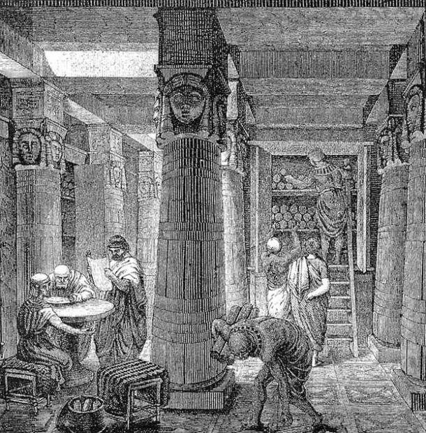 The Great Library of Alexandria, O. Von Corven, 19th century