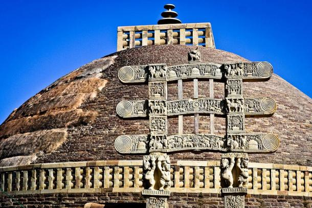 The Great Stupa at Sanchi, India.