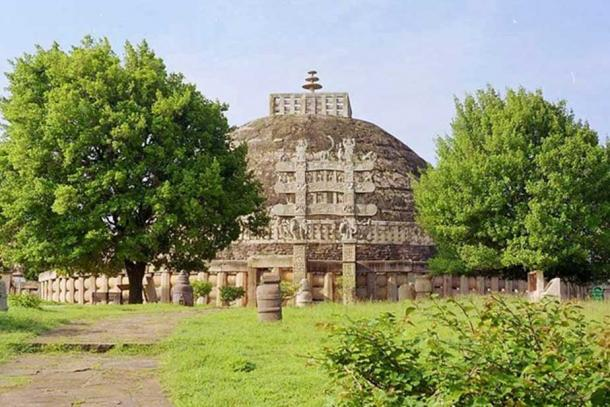 "The ""Great Stupa"" at Sanchi, India."