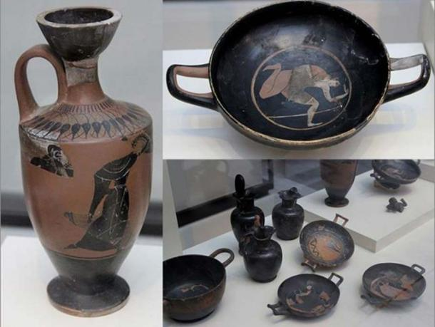 Some of the Greek artifacts discovered at the Pozo Moro site.