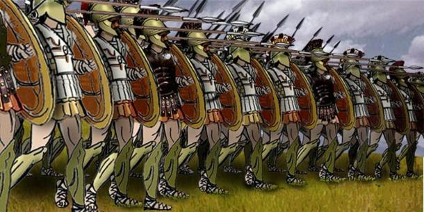 Greek phalanx formation based on sources from the Perseus Project.
