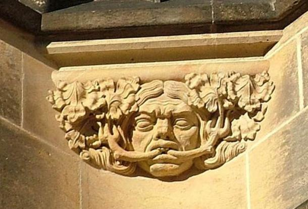 Green man at St. Vitus Cathedral, Prague