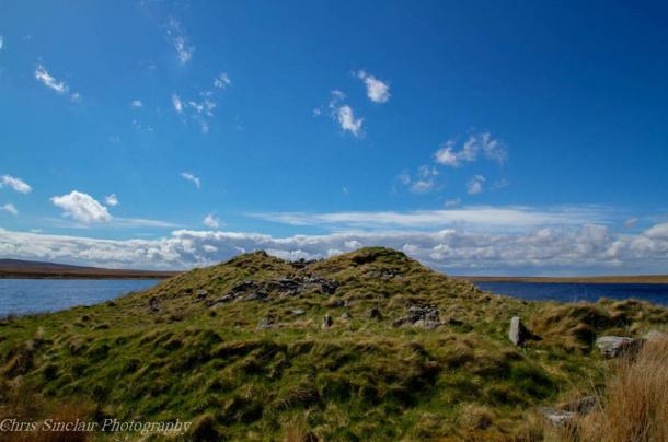 Greysteil Castle looking west, courtesy of Chris Sinclair Photography and the Caithness Broch Project.