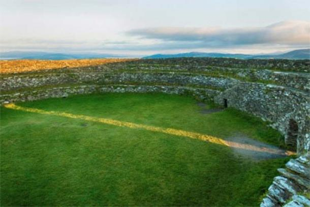 Grianan of Aileach on the equinox.