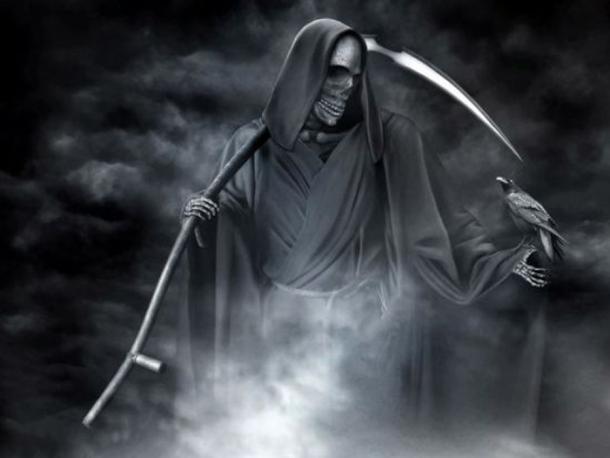 Illustration of the Grim Reaper.