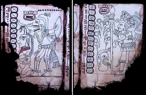 Right: Grolier Codex, Page 6. Left: Grolier Codex, Page 7