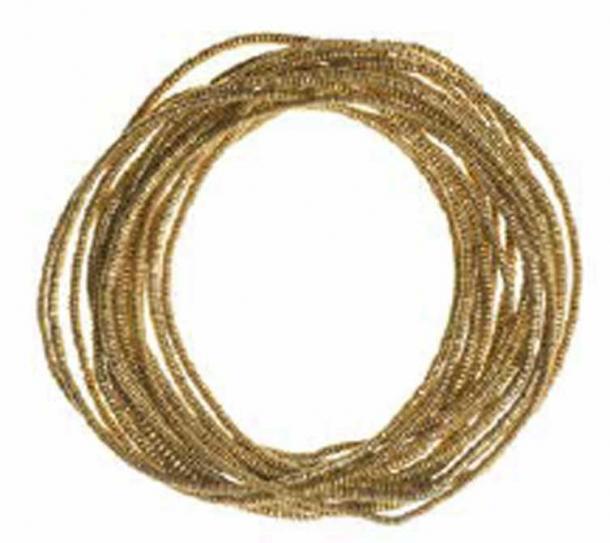 Group of gold bead bracelets Mapungubwe Hill, AD 1250 – AD 1290. (© University of Pretoria)