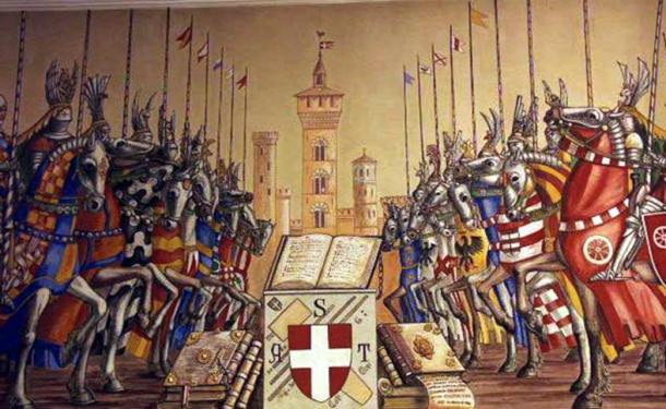 In 1325, the city-states of Guelph Bologna and Ghibelline Modena fought over a civic bucket in the War of the Bucket, where the famous Battle of Zappolino was fought.