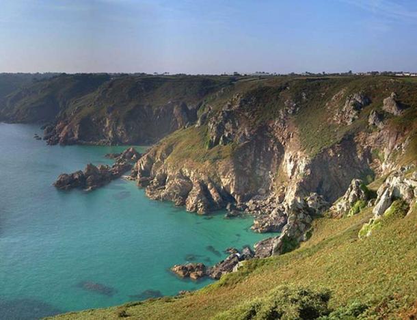 Guernsey cliffs view.