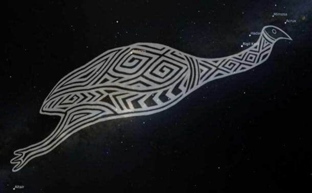 Gugurmin - the emu in the Wiradjuri night sky. Wiraduri artist Scott 'Sauce' Towney.
