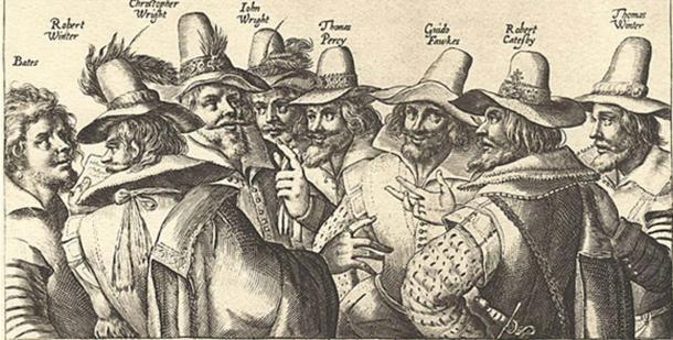 'The Gunpowder Plot Conspirators', 1605, by unknown artist.