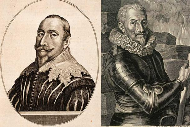 [Left] Engraving of Gustavus Adolphus and [Right] portrait of Count Johann t'Serclaes von Tilly.