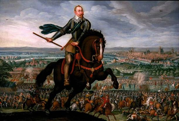 Gustavus Adolphus of Sweden at the Battle of Breitenfeld by Johann Walter 1632