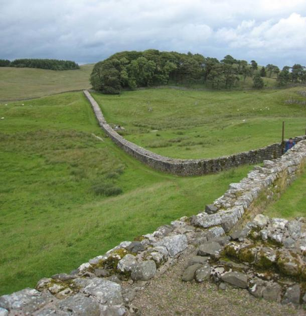 A part of Hadrian's Wall in Northumberland