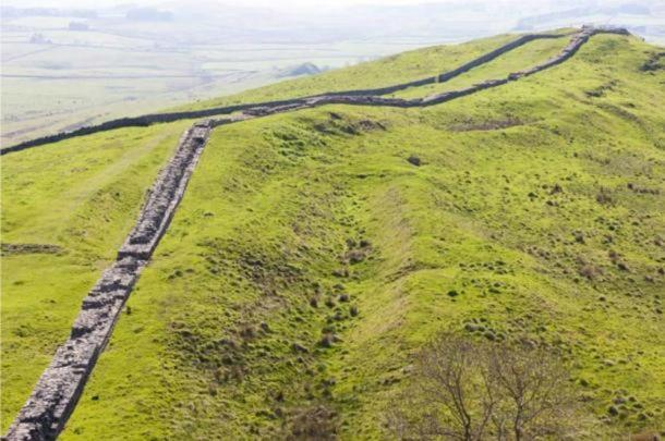 Hadrian's Wall (Northumberland) stretches for miles over rugged terrain. Source: BigStockPhoto