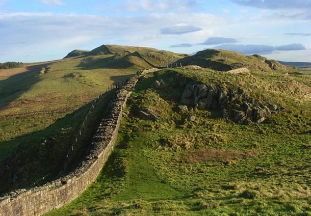 Hadrian's Wall near Caw Gap (Wikimedia Commons)