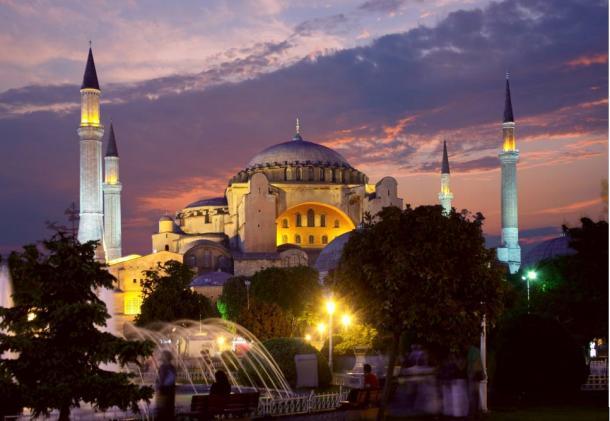The spectacular Hagia Sophia, Istanbul.