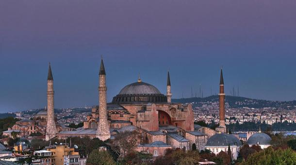 The Hagia Sophia in Istanbul, Turkey.