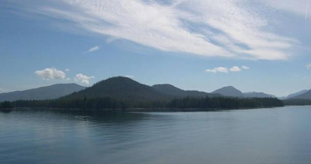 Haida Gwaii islands as seen from Hecate Strait
