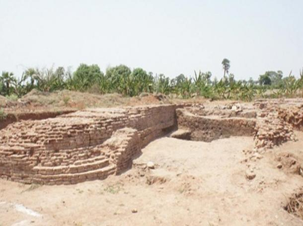 Section of the Halin archaeological site.
