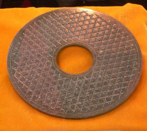 A Han Dynasty bi, 16 cm (6.3 inches) in diameter.