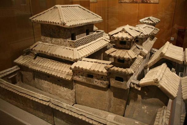Han Dynasty pottery palace created for elite burial, c. 2nd century BC - 2nd century AD, Henan Provincial Museum, Zhengzhou, China. (Gary Lee Todd/CC BY SA 4.0)