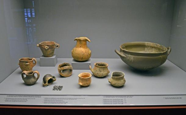 Handmade Bronze Age pottery.