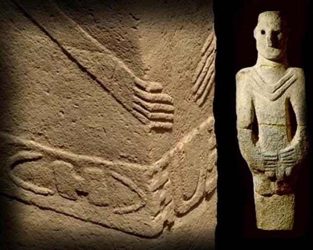 The Statues and Symbolic Gestures that Link Ancient Göbekli Tepe, Easter Island, and Other Sites Around the World  Hands-come-together-on-the-omphalos