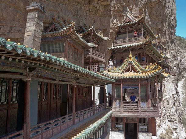 The Hanging Monastery near Mount Heng, China