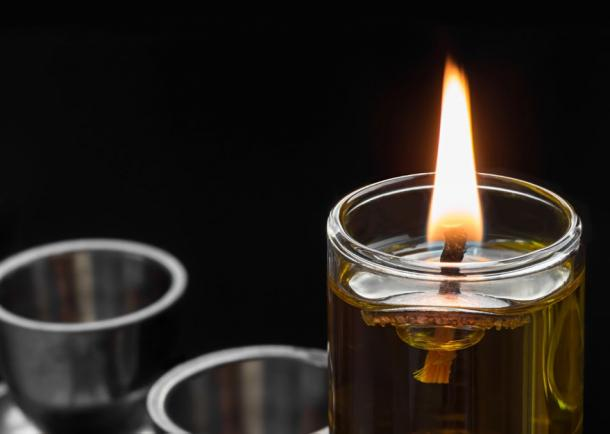 Hannukah 'miracle of oil' symbolized by the Menorah. ()