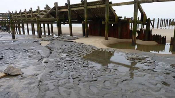 Happisburgh footprints, England