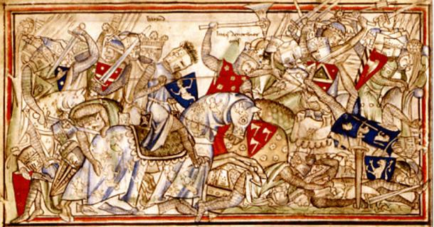 Harald at the battle of Stamford Bridge.