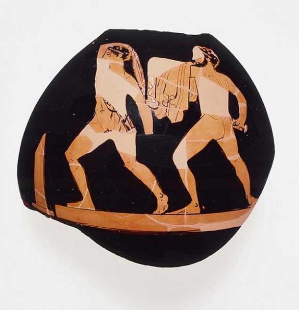 Harmodius and Aristogeiton. Attic black-figure vase.