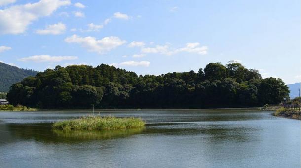 The Hashihaka mound in Nara Prefecture