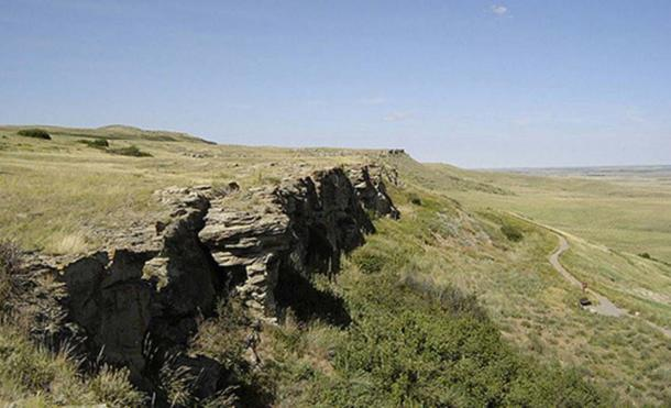 Head-Smashed-In Buffalo Jump in Alberta where the ancient First Nations meal was found
