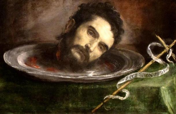 Head of Saint John the Baptist, by anonymous Spanish painter.