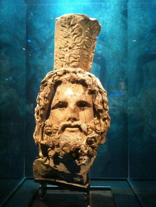Head of Serapis, from a 12-foot statue found off the coast of Alexandria.