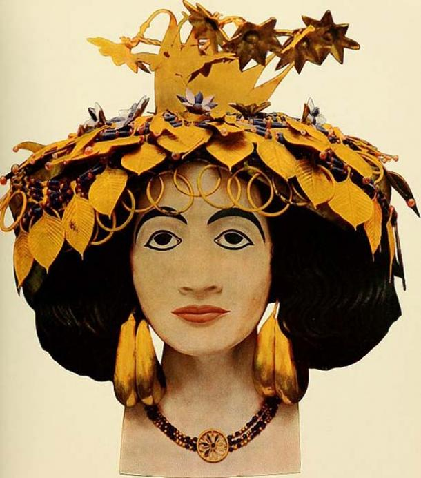 Head of Sumerian Queen Puabi.