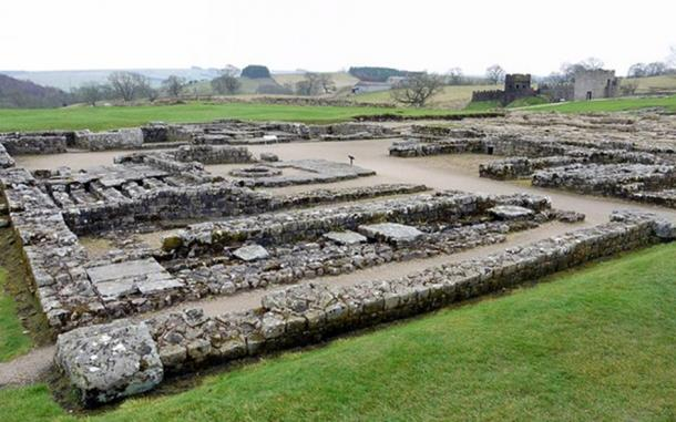 Headquarters building at the center of Vindolanda Roman Fort