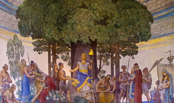Heimdallr brings forth gifts of the gods to the humans by Nils Asplund (CC by SA 3.0)
