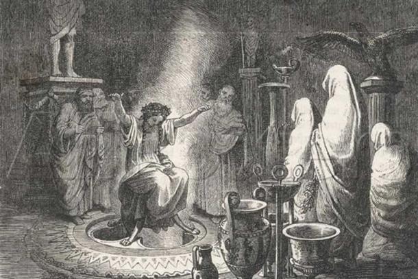 Heinrich Leutemann's The Oracle of Delphi Entranced.
