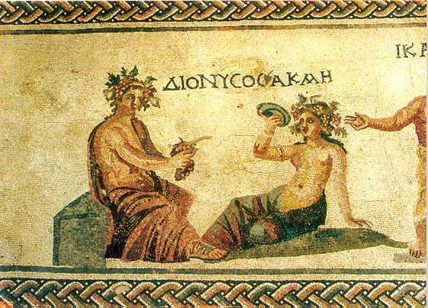 Hellenistic mosaics discovered close to the city of Paphos depicting Dionysus, god of wine.