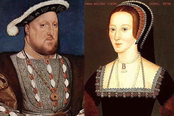 Elizabeth's parents, Henry VIII and Anne Boleyn. Anne was executed less than three years after Elizabeth's birth.