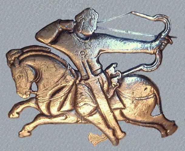 Hephthalite horseman on British Museum bowl 460-479 CE British Museum. The Hephthalites were a Huna group. (PHGCOM/CC BY SA 3.0)