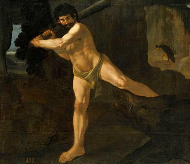 Heracles and the Erymanthian Boar, by Francisco de Zurbarán, 1634 (Museo del Prado).