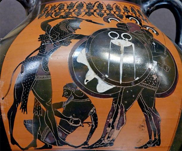 Heracles fighting Geryon, amphora by the E Group, c.540 BC. (Louvre Museum / Public domain)