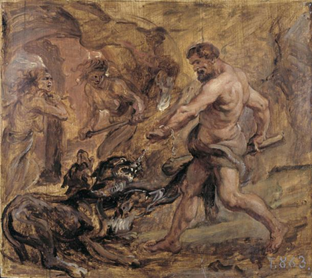 Hercules and Cerberus by Peter Paul Rubens (1636) Museo del Prado (Public Domain)