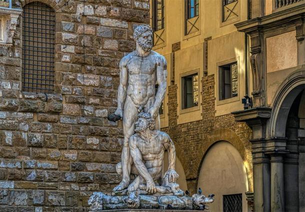 Hercules and Cacus by Baccio Bandinelli (1525–34), Piazza della Signoria, Florence, Italy. (VarnakovR / Adobe stock)