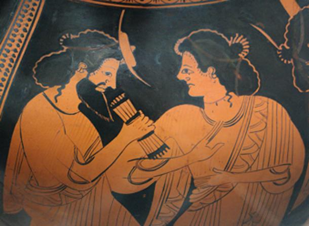 Hermes – messenger of the gods - with his mother Maia. (Bibi Saint-Pol / Public Domain)
