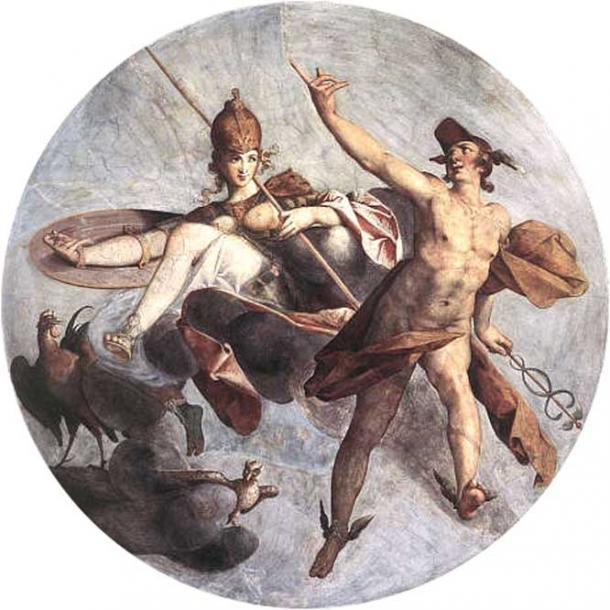 Hermes and Athena by Bartholomeus Spranger, 1585